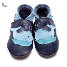 Inch Blue - 1616 CM - Chaussures Bébé Souples - Baleine - Bleu Marine - T 25-27 cm - 3-4 ans - Chaussures inch blue (*Partner-Link)