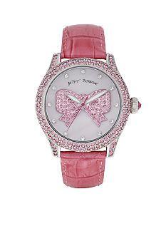 Betsey Johnson pink bow watch.