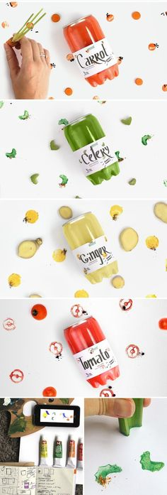 Carrot Juice (Concept) Carrot Juice (Concept) on Packaging of the World – Creative Package Design Gallery - Fresh Drinks Juice Branding, Juice Packaging, Types Of Packaging, Beverage Packaging, Bottle Packaging, Packaging Design, Packaging Ideas, Crea Design, Food Design