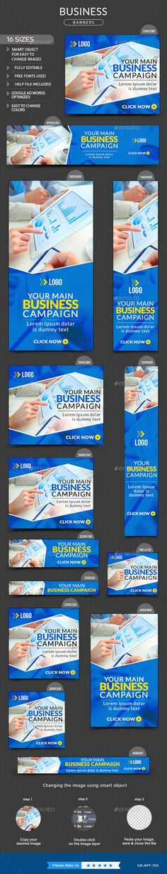 Business Banners Template #design Download: http://graphicriver.net/item/business-banners/11858159?ref=ksioks