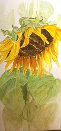 Original Watercolor Painting Sunflower ... | Y is for YELLOW: sunfl…