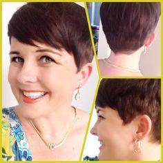 Pixie cut - brunette - short hair