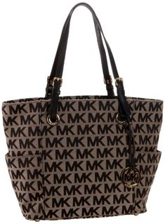 MICHAEL Michael Kors E/W Signature Tote,Black/Beige/Black,one size. Bought this recently. Love it. Lots of storage!