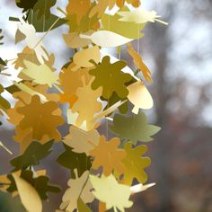 Gorgeous Paper Leaf Mobile by SugarAndSpiceStudios on Etsy, $37.00