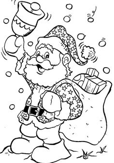 Santa Claus Happy Christmas Coloring Page