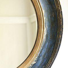 Cassidy Mirror from Ballard. Looks like Aubusson Blue