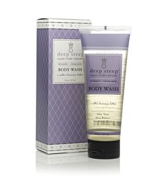 Deep Steep Body Wash. For squeaky clean and soothed skin. #lavender #skincare #natural