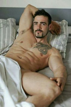 Sunday lay in | Hot Dude with no underwear #Guys #Fashion