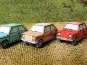 Simple Fiat 126 Paper Car Free Vehicle Paper Model Download