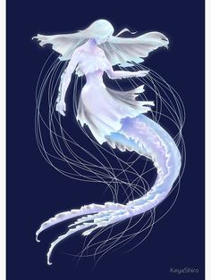 Mermaid Book, Mermaid Art, Medusa, Fantasy Creatures, Mythical Creatures, Art Sketches, Art Drawings, Jellyfish Art, Humanoid Creatures