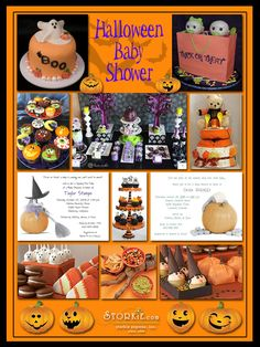 Halloween Baby Shower Theme Inspirations... Not all ideas have to be for a shower so I'm pinning it