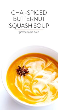 This Chai Butternut Squash Soup recipe is easy to make in the slow cooker or pressure cooker, and it's seasoned with yummy chai tea.  Absolutely delicious, and also naturally gluten-free and vegan!  (This post also contains affiliate links.) Oh friends, I have a new secret ingredient that is going to kick your butternut squash soup game up a major notch …