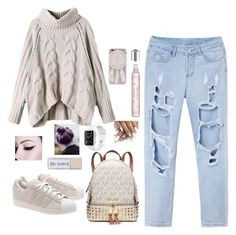 """""""Untitled #208"""" by mariapangal ❤ liked on Polyvore featuring adidas Originals and Michael Kors"""