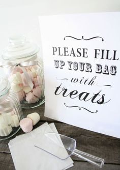 Shabby Chic/Vintage Candy Buffet Sign/Candy Bar/ Sweets/Table Sign/Wedding/Party | eBay