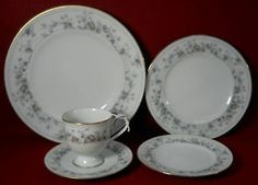 Noritake China Adoration Pattern Service for 8 by HRHTreasures