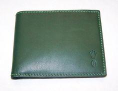 Rolex Wallet (Men s Pre-owned Green Leather Bifold Wallet) Money Clip Wallet  77191eda9
