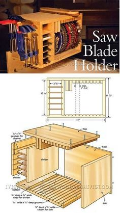 Saw Blade Holder Plans - Table Saw Tips, Jigs and Fixtures | WoodArchivist.com