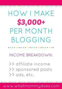 How I Make $3000+ Per Month Blogging ~ July 2015 Income Report -