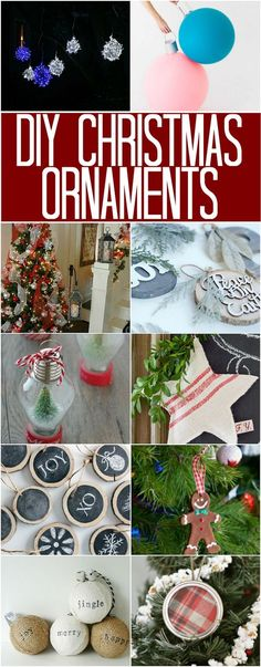 DIY Christmas Ornaments: 100 Days of Homemade Holiday Inspiration Family Christmas Ornaments, Simple Christmas, Homemade Christmas, Christmas Traditions, Diy Ornaments, Homemade Ornaments, Christmas Recipes, Christmas Holidays, Homemade Gifts