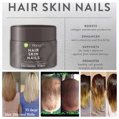 Loving this supplement!  My nails have never been longer and stronger.  New hair is growing in too!  Yay!  My thick hair is on the return!