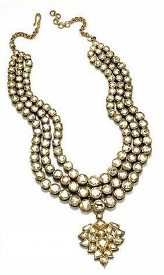 Amrita Singh Jewelry, 2006  22K Necklace with Floral Pendant Drop