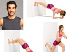 """Welcome to the wall workout: No-equipment moves that require only a wall. Tone your abs, butt, thighs, arms and more. See the moves done step-by-step in our <a href=""""/fitness/workouts/2014/02/tone-your-body-with-a-wall-video"""">video</a>!"""