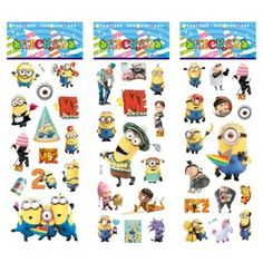 6 lembar/set Minions stiker untuk anak-anak Rumah wall decor di laptop Despicable Me mini 3D sticker decal kulkas skateboard doodle