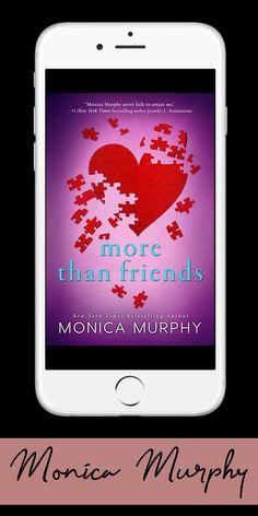 He's not perfect but he's all I want | More Than Friends, a young adult novel by NYT bestselling author Monica Murphy Ya Novels, Novels To Read, Romance Authors, Romance Books, Friends Series, Teen Romance, Books For Teens, Ya Books, Just Friends