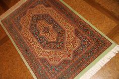 高級ペルシャ絨毯のセンターラグサイズクムシルク100%56097、fine carpet silk
