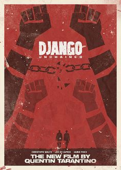 Django Unchained - Quentin Tarantino Minimal Movie Poster by Stefano Reves