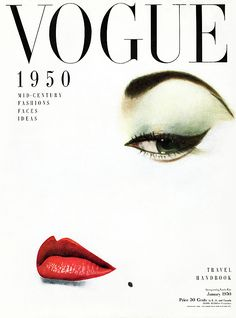Erwin Blumenfeld, Jean Patchett, Vogue US Cover, 1950 © The Estate of Erwin Blumenfeld tag: focus beauty eye red
