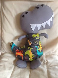 Dinosaur plush dinosaur softie dinosaur doll by BellaBooStudioUK, £20.00