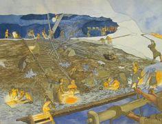 Bronzezeitlicher Bergbau um Hallstatt Bild: D.Graebler-H.Reschreiter NHM-Wien