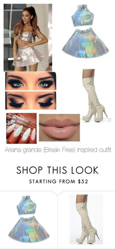 """""""Ariana grande (break free) inspired outfit"""" by jennasykes ❤ liked on Polyvore"""