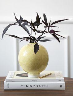 ockerfarbene Unico Vase von Kähler Design