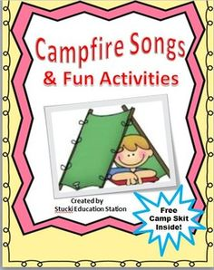 Click now to Instantly download your fun camping lessons. Your class will love these fun campfire songs, camp story time, an engaging camp skit and exciting Math games. Skills include Reading, Math, Science, singing and performing Arts. This package includes: *A Free Camping Skit Your