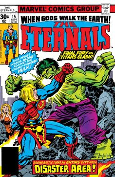 1977 Marvel Comics The Eternals Ikaris Hulk, Jack Kirby, Stan Lee Comic Book Marvel Comics Art, Marvel Comic Books, Comic Book Heroes, Marvel Characters, Comic Books Art, Comic Art, Marvel Heroes, Book Art, Fictional Characters