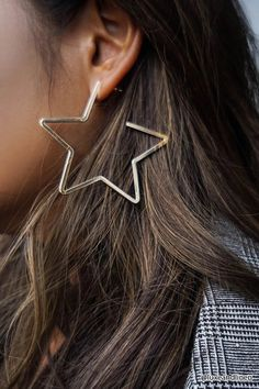 Star Hoop Earrings | Forever21
