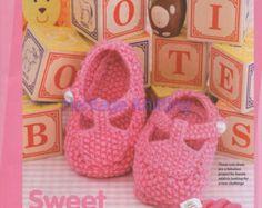 PATTERN  Baby Booties Knitting Pattern Knit Stitch Only Three