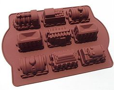 9 Hole Train Shape Silicone Thick Cake Mold Mould Baking Supply -- More infor at the link of image @ : Baking pans