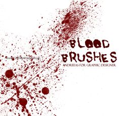 Blood 5 - Download  Photoshop brush http://www.123freebrushes.com/blood-5-2/ , Published in #BloodSplatter, #GrungeSplatter. More Free Grunge & Splatter Brushes, http://www.123freebrushes.com/free-brushes/grunge-splatter/   #123freebrushes