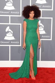 Singer Solange at Grammys   zimbio.com