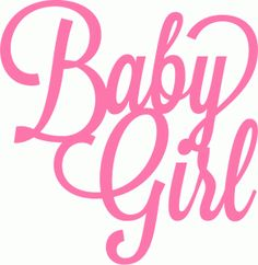 Silhouette Online Store - View Design #40901: baby girl script lettering title