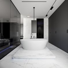 #Luxurybathroom fully designed with Syros collection by #Inalco. We really love how they have played with the #ultrawhite color of Syros and the #blacktones in the rest of the elements. #bathroomdesign #Inalcoproject #MDi