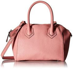 Women's Top-Handle Handbags - Rebecca Minkoff Micro Perry Satchel Cross Body Bag Guava One Size * Click image to review more details.