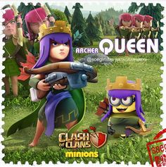 Clash of Clans Minions ~ Archer Queen