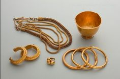 """recreations of real gold artifacts (created by the ancient Filipinos) used for """"Amaya"""""""