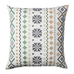 "Ikea Decorative Pillows New Kråkris Cushion Gray White Length 14 "" Width 14 "" Filling Weight Design Decoration"