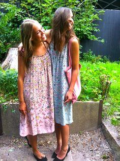 Caroline from Rainbow dash and her sister wearing Rützou SS12 dresses  Rainbow Dash 4bd67dd1c