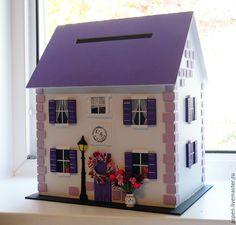 Свадебный домик - комбинированный, сундучок для денег, сундучок, сундук, сундучок для конвертов, сундук для денег